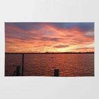 florida Area & Throw Rugs featuring Florida Sunset by minx267