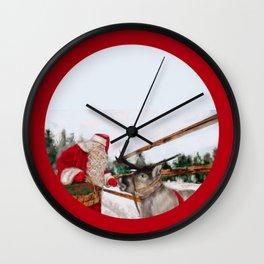 Christmas, Navidad, Noel, Moose Wall Clock