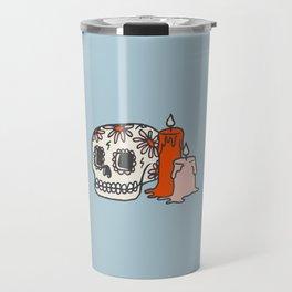 Inktober Day 8 - Skull Travel Mug