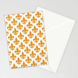 Fleur-de-Lis: Orange Stationery Cards