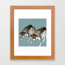 Totem Dark European Wolf Framed Art Print