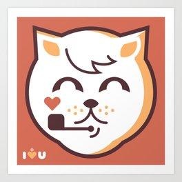 UNDO  ILU Pet Lover series [ brando ] Art Print