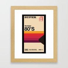 Super Tape Framed Art Print