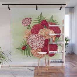 Full bloom | Ladybug carnation Wall Mural