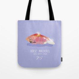 Horse Mackerel Sushi Tote Bag