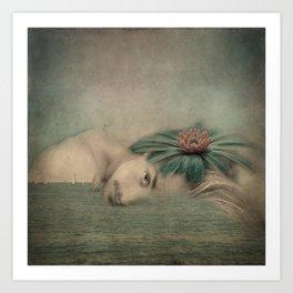 A man, the sea and a dream Art Print