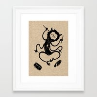 monster Framed Art Prints featuring Monster by Anya Volk