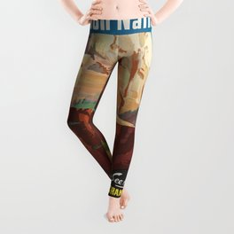 Vintage poster - Zion National Park Leggings