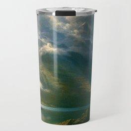 Scenery in the Grand Tetons by Albert Bierstadt Travel Mug
