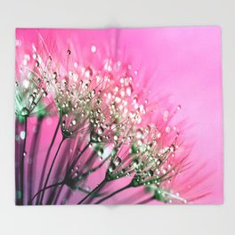 Pink Diamond Dew Throw Blanket