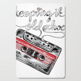 Keeping it old school boombox tape 80s music shirt Cutting Board