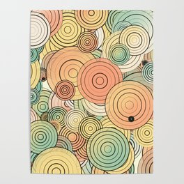 Layered circles Poster