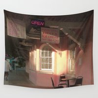 cafe Wall Tapestries featuring Station Cafe by Glenn Designs