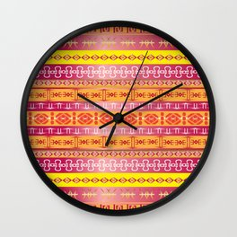 Orange Tribe Party Wall Clock