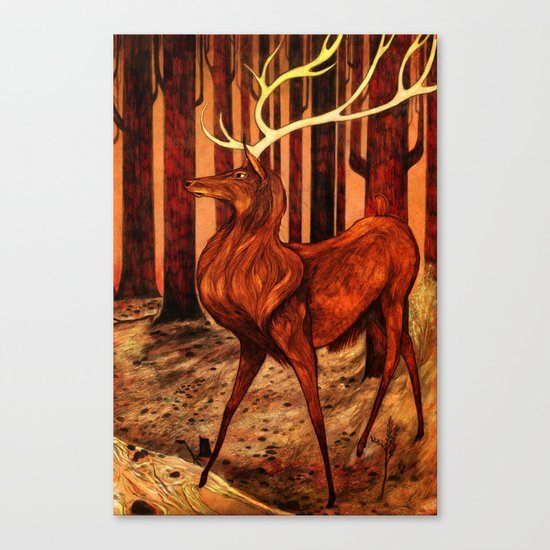 La Majesté du Cerf (The Proud Stag) Canvas Print