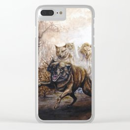 Pack of Wolves Clear iPhone Case