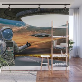 Hitchhiking Around The Universe Wall Mural