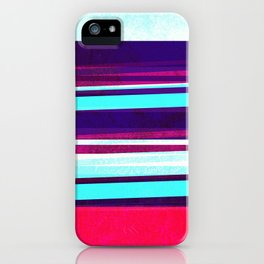 teal & red strips  iPhone Case
