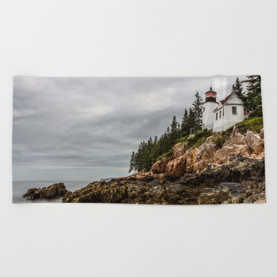 Bass Harbor Lighthouse - Acadia National Park Beach Towel