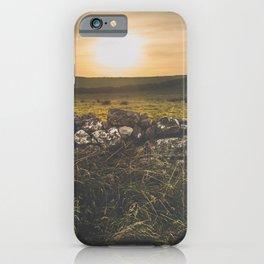 Sundown rugged landscape on the Irish coast iPhone Case