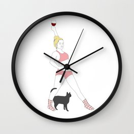 Katie and Stella Wall Clock