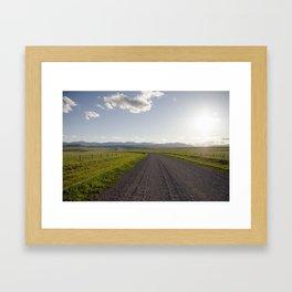 Gravel Road Framed Art Print