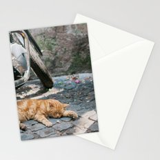 Orange Cat with Motorcycles Stationery Cards