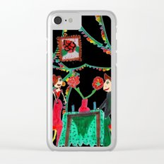 Christmas Dinner | Kids Painting Clear iPhone Case
