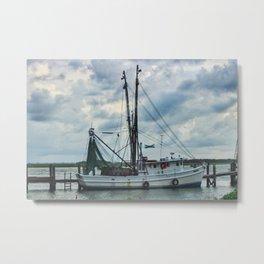 DockSide boat Metal Print