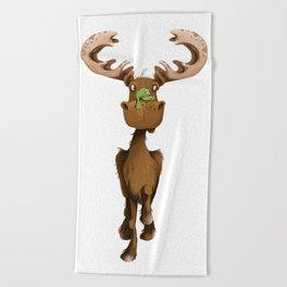 Moose Named Moe Beach Towel