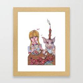 Pork Cheeks with Fennel and Olives Framed Art Print