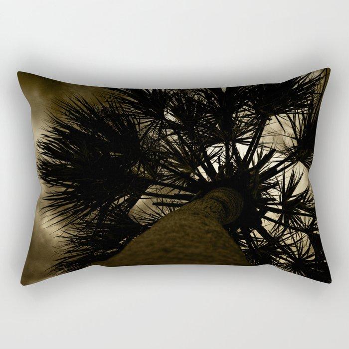 Palm Reaching To The Storm Rectangular Pillow