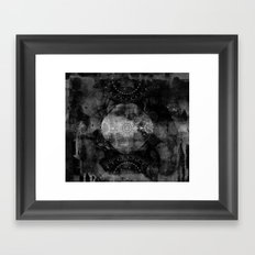 a shouting ghost moves across the sky Framed Art Print