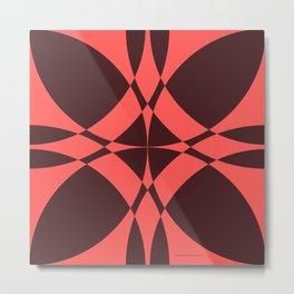 Abstract Circles - Ruby Metal Print