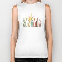 sin city Biker Tanks featuring Sin City by Chelsea Dianne Lott