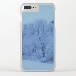 Snowy White with Arctic Filter Clear iPhone Case
