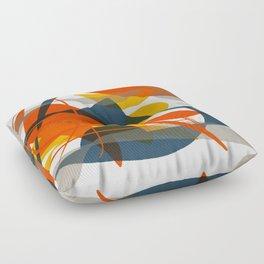 Abstract Bird Floor Pillow