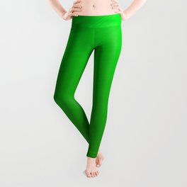 Bright Green Stitch Leggings