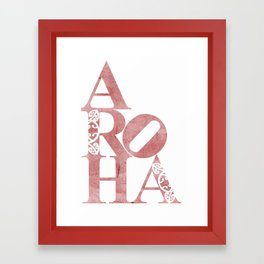 Aroha (Love for the people) Framed Art Print