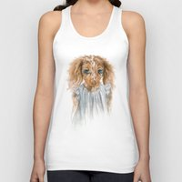 puppy Tank Tops featuring Puppy by Leslie Evans