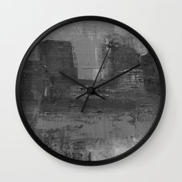 Paint Texture (Black and White) Wall Clock