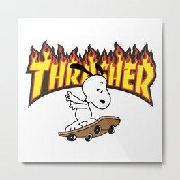 snoopy thrasher skate Metal Print