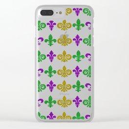 Fleur de Lis Heaven Clear iPhone Case