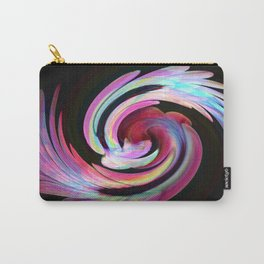 Muted Feather Swirl Carry-All Pouch