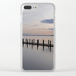 Causeway at Sunset Clear iPhone Case