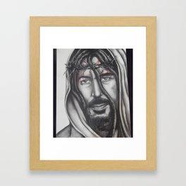 Nombre De Jesus (with dreads) Framed Art Print