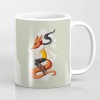 kitsune Mugs featuring Kitsune 2 by Freeminds