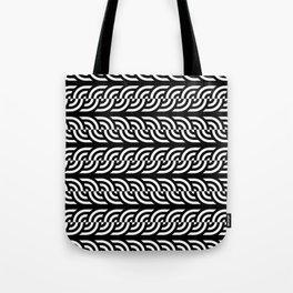 Black and white braided illusive circles Tote Bag