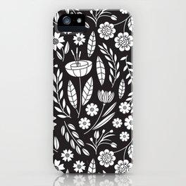 Blooming Field - black iPhone Case