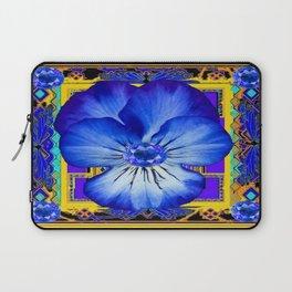 BLUE SAPPHIRES BLUE PANSY GEMS DESIGN Laptop Sleeve